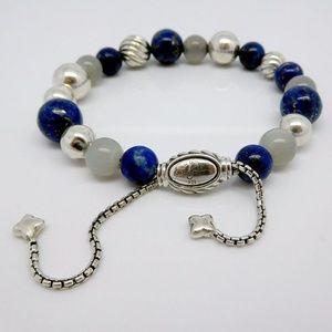 David Yurman Lapis lasuli Spiritual Beads Bracelet